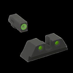 MEPROLIGHT Hyper-Bright Self Illuminated Fixed Night Sight Set for CZ Shadow 2 - Green Ring/Green