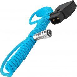 Kondor Blue Coiled D-Tap to BMPCC 6K/4K Power Cable for Blackmagic - Blue