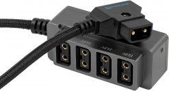 """Kondor Blue 12V Metal D-Tap Hub 4 Way Port Power Tap Spliltter (1/4""""-20 Thread)"""