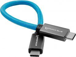 Kondor Blue USB C to USB C High Speed Cable for SSD Recording