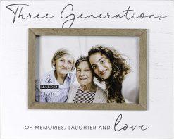 Malden 4x6 Three Generations Rustic Borders Script Photo Frame
