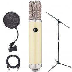 Warm Audio WA-251 Large-Diaphragm Tube Condenser Microphone + On-Stage Mic Stand, On-Stage Pop Filter and XLR Mic Cable