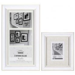 Malden 5X7 3 Opening Barnside Matted Frame + Barnside Frame 5X7/8X10 White