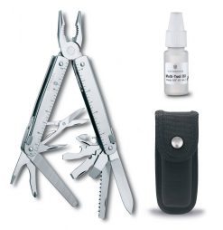 Victorinox Swiss Army SwissTool X Multi-Tool, Stainless with Nylon Pouch + Victorinox Swiss Army Multi Tool and Knife Oil
