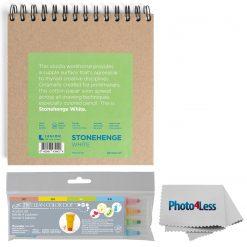 Stonehenge Spiral Pads 7x7 White + Zig Clean Color Dot - 4 Color Set + Cloth