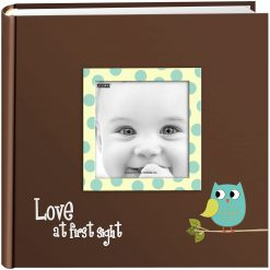 Pioneer 4x6 Baby Owl Raised Frame Photo Album Holds 200 Pictures Blue