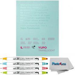 Yupo Translucent Pads 9x12 153gsm + Zig Clean Color Dot - 4 Color Set