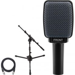 Sennheiser E906 Supercardioid Dynamic Microphone for Guitar Amps with Microphone Stand With Telescoping Boom and XLR Mic Cable