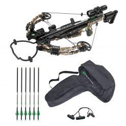 CenterPoint Mercenary 390 Compound Crossbow Package + CenterPoint 20'' Carbon Crossbow .003 400-Grain Arrow - 6 Pack + CenterPoint Archery Crossbow Bag