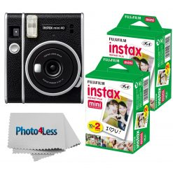Fujifilm Instax Mini 40 Instant Camera + 40 Sheets + Cloth