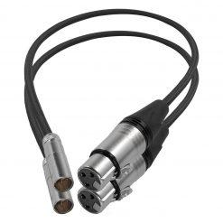 "Kondor Blue Mini XLR Male to XLR Female 16"" Audio Cable (2 Pack) for BMPCC & C70 - Black"