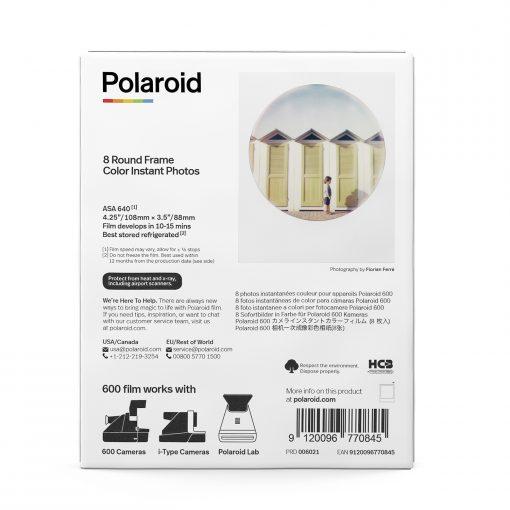 Polaroid Color Film for 600 - Round Frame 8 Frames