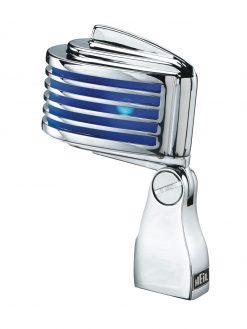 Heil Sound Retro-Styled Dynamic Cardioid Microphone, The Fin - Chrome Body/Blue LED