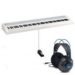 Korg B2WH 88-Key Digital Piano (White) + Samson SR970 Headphones