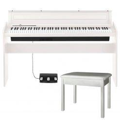 Korg LP180- 88 Key Lifestyle Digital Piano (White) + Piano Bench