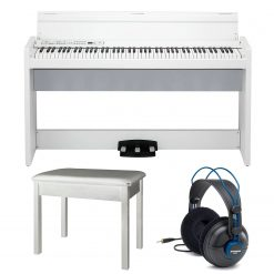 Korg LP380WH 88 KEY Lifestyle Digital Piano (White) + Acc.