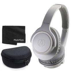 Audio-Technica ATH-SR30BT Bluetooth Wireless Closed-Back Dynamic Over-Ear Headphones + Case + Cloth
