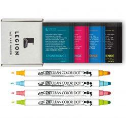Legion Artist Pads Set: Stonehenge Aqua Mini + Zig Clean Color Dot - 4 Color Set