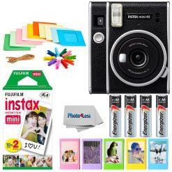 Fujifilm Instax Mini 40 Instant Camera + Twin Pack Film + Batteries + Frames