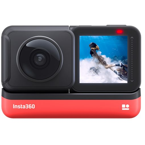 Insta360 ONE R Twin Edition + Battery Base + 128GB SD Card + Card Reader + Cloth