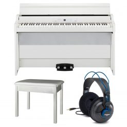 Korg GB1AIRWH 88 Key Digital Piano with Bluetooth (White) + More