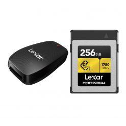 Lexar 256GB Professional CFexpress Type-B Memory Card + Lexar CFexpress Type B USB 3.2 Gen 2x2 Reader