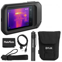 FLIR C5 Compact Thermal Camera + LedLenser Keychain Flashlight + Cloth