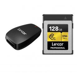 Lexar 128GB Professional CFexpress Type-B Memory Card + Lexar CFexpress Type B USB 3.2 Gen 2x2 Reader