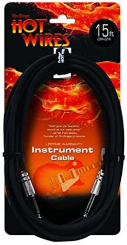 On Stage IC-15 Guitar Instrument Cable, 15 ft.