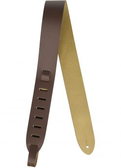 """Levy's Leathers 2"""" Wide Brown Genuine Leather Guitar Strap"""