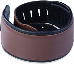 """Levy's Leathers 4 1/2"""" Wide Brown Garment Leather Bass Strap"""
