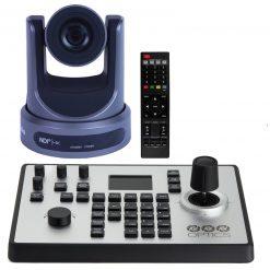 PTZOptics 30X-NDI Broadcast and Conference Camera, Grey +PTZOptics PTJOY G4 Joystick Controller