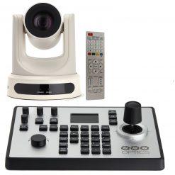 PTZOptics 20X-NDI-WH, 20x Lens NDI Camera - White+ PTZOptics PTJOY G4 Joystick Controller