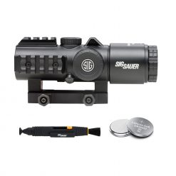 Sig Sauer BRAVO5 5X30mm Battle Sight, 5.56/7.62 Horseshoe Red Dot Reticle - Black + Lens Cleaning Pen and Batteries
