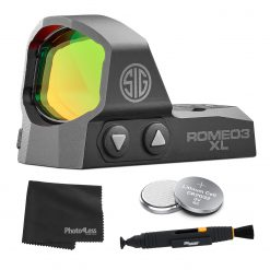 Sig Sauer ROMEO3 XL 1X35mm 6 MOA Red Dot Sight + 2 Additional Batteries and Lens Cleaning Kit