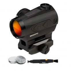 Sig Sauer ROMEO4T 1X20mm Red Dot Sight, Ballistic Circle Dot - Black + 2 Additional Batteries and Lens Cleaning Pen