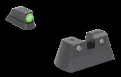 MEPROLIGHT Hyper-Bright Self Illuminated Fixed Night Sight Set for  CZ P10 - Green Ring/Green