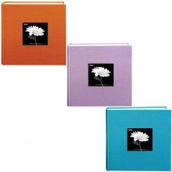 Pioneer Set of 3 Colors Photo Album | Lilac | Turquoise | Orange + Emoji Stickers