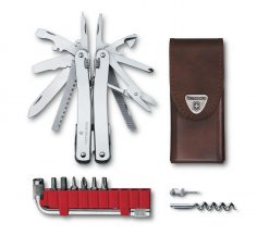 Victorinox Swiss Army SwissTool Spirit X Plus Multi-Tool, Stainless with Leather Pouch