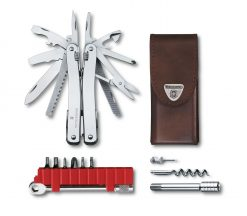 Victorinox Swiss Army SwissTool Spirit X Plus Ratchet Multi-Tool, Stainless with Leather Pouch