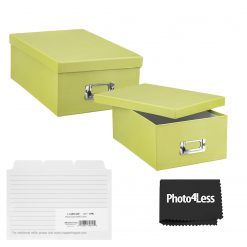 """Pioneer Photo Storage Box Holds Up To 4""""X7"""" Sage Green + 4x6 Refill Cards"""