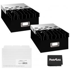 """Pioneer Photo Storage Box Holds Up To 4""""X7"""" B&W Long Stems + 4x6 Refill Cards"""