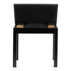 Gator Deluxe Wooden Piano Bench In Black