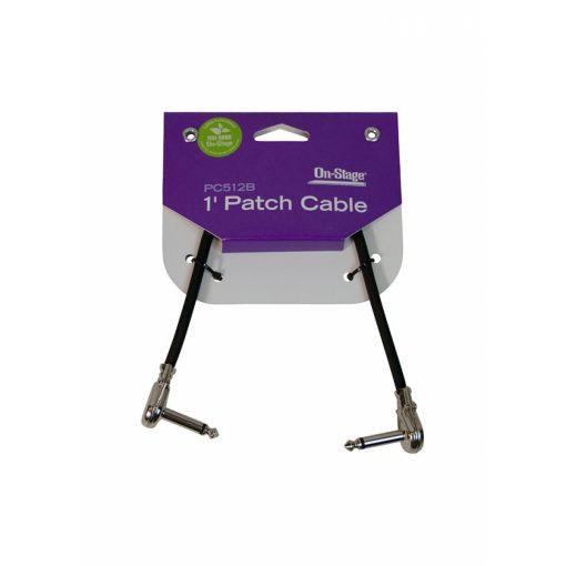 On Stage PC512B 1' Patch Cable with Pancake Connectors (Black)