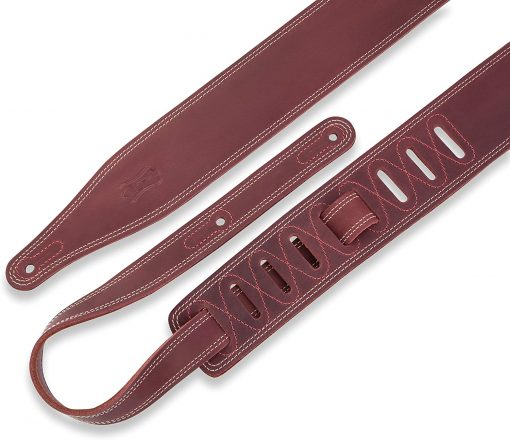 """Levy's Leathers 2 5"""" Wide Garment Leather Guitar Strap (M17BDSBRG)"""