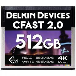 Delkin CFast 2.0 Memory Card 512GB