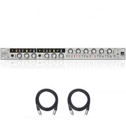 Audient Audio ASP800 - 8 Channel Microphone Preamplifier with HMX & Iron and 2 XLR Mic Cables