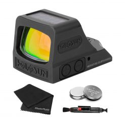 Holosun HE508T-RD X2 Elite Open Reflex Multi-Reticle Red Dot Sight + Extra Batteries and Lens Cleaning Kit