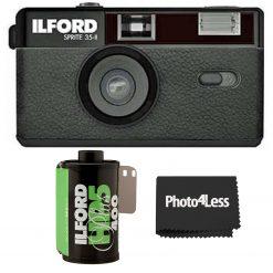 Ilford Sprite 35-II Camera Black + HP5 Plus B&W Film 35mm 24 Exposures