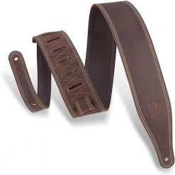 """Levy's Leathers 2 5"""" Wide Garment Leather Guitar Strap (M17BDSDBR)"""